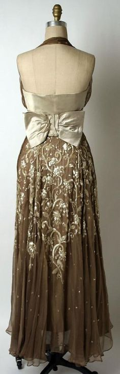 Leslie Morris Dress - back - 1953 - by Leslie Morris (American) - Silk, plastic by gianna.messovoulou