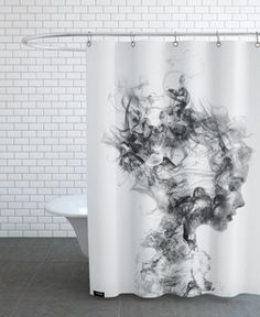 Designer Duschvorhänge get als duschvorhang juniqe juniqe black white