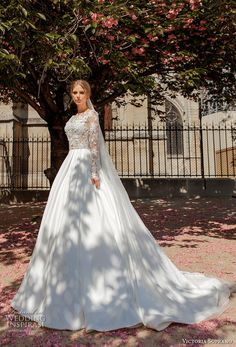 victoria soprano 2019 bridal long sleeves bateau neck heavily embellished bodice princess ball gown a  line wedding dress keyhole back chapel train (14) mv -- Victoria Soprano 2019 Wedding Dresses | Wedding Inspirasi #wedding #weddings #bridal #weddingdress #bride ~