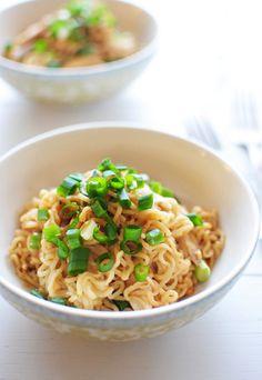 4-Ingredient Peanut Chicken Ramen