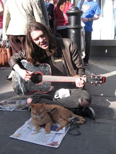 ....sings 'Molly's Lips', by The Vaselines, in the style of Nirvana, outside Covent Garden tube station.