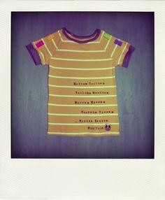 A t-shirt (recycled): http://paapuuri.blogspot.fi/2014/04/entten-tentten.html