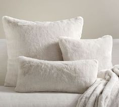 Alpaca Faux Fur Pillow Cover #potterybarn