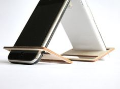 Cell phone stand for wallet,laser cut wood,office desk accessories,cell phone holder,iPhone stand,iPhone dock,geek gifts,cool stuff,geeky