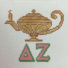Delta Zeta Ornament needlepoint canvas