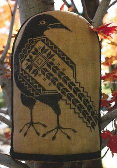 Quaker Crow - Cross Stitch Pattern