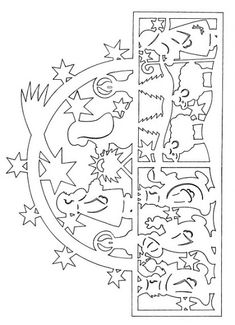 FILIGRAN window decorations for winter II. Christmas Paper, Paper Models, Scroll Saw, Paper Cutting, Templates, Winter, Stitches, Pattern, Crafts