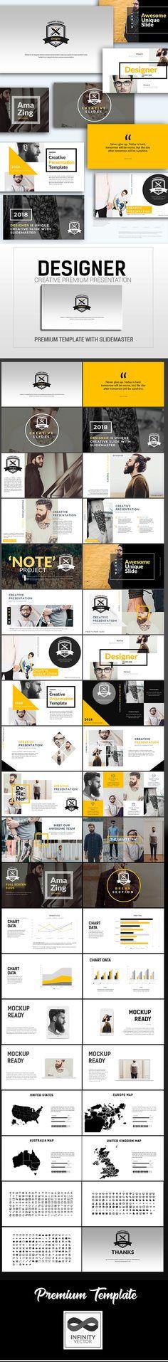 Designer Creative Presentation #powerpoint #template