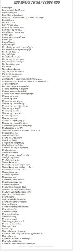 100 Ways To Say I Love You:
