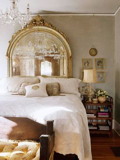 Beautiful mirror & bed