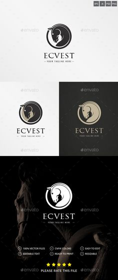 Horse Logo — Photoshop PSD #power #speed • Available here → https://graphicriver.net/item/horse-logo/18559200?ref=pxcr