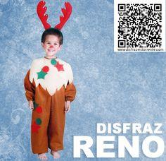 Disfraz de Reno.  Disfraces de animales divertidos para portal de Belén.  Mono calentito y diadema divertida.