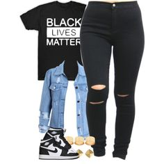 #BlackLivesMatter by power-beauty on Polyvore featuring ASOS, Vince Camuto, Retrò, country, BlackLivesMatter and DeEscalateDontKill