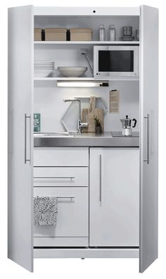 3 Simple Improvement Ideas For Your Kitchen Space – Home Dcorz Studio Kitchenette, Office Kitchenette, Small Kitchenette, Micro Kitchen, Hidden Kitchen, Compact Kitchen, Micro Apartment, Small Cupboard, Kitchen Prices