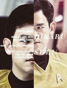 Hikaru Sulu, chief helmsman abroad the Enterprise Star Trek 2009, New Star Trek, Star Trek Beyond, Star Wars, Uss Enterprise, Reboot Movie, Hikaru Sulu, Star Trek Reboot, Star Trek Into Darkness