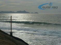 Praia do Diabo hoje pela manhã. Veja mais em www.surfrio.com.br