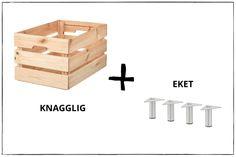 Tisch selbst bauen aus IKEA Produkten - 2 einfache DIY Ikea Hacks Diy Tisch, Ikea Interior, Ikea Hacks, Jenga, House Design, Wood, Crafts, Bedroom, Small Occasional Table