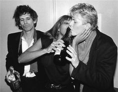 Keith Richards, Tina Turner & David Bowie. Backstage - The Ritz, NYC, 1983