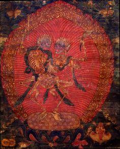 Citipati, Shri Shmashana Adhipati (Glorious Lords of the Charnel Ground). Tibet, circa 1700-1799.