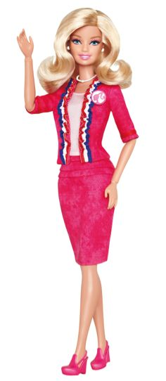 17 Barbies We're Glad Mattel Made: Barbie for President (2012) - The fourth presidential Barbie candidate, but the first one ever who can stand on her own two feet—literally! Plus, she's all over the news and has her own campaign page!