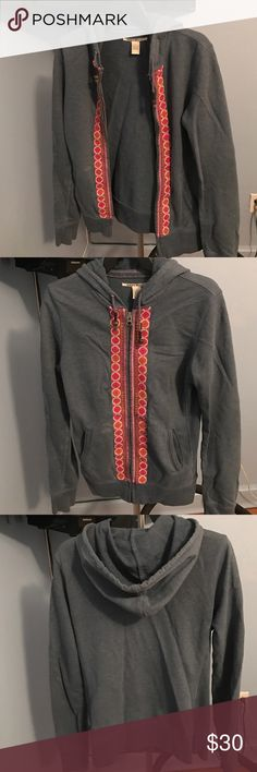 Zipped up hoodie from Lucky Brand This fun textured zipped up hoddie is a very unique piece. The patterns by the zipper are cute and the colors complement each other. This is ideal for someone with a very fun, different and hippie style. Lucky Brand Other