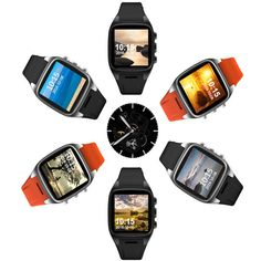 X01 1.54 inch MTK6572 4GB Camera WIFI GPS 3G Bluetooth Android 4.4 Smart Watch For iPhone X 8 Plus S8
