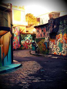 "Beco do Batman (""Batman's Alley"") a prime place to see the vibrant graffiti scene of São Paulo, Brazil"