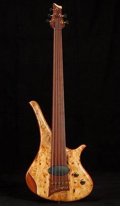 ArtMarleaux Diva by Marleaux Bass Guitars - woody, curvy and sporting an interesting P/U. This is why I love bass. Music Guitar, Guitar Amp, Cool Guitar, Acoustic Guitar, Art Music, Custom Bass, Custom Guitars, Piano, Gretsch