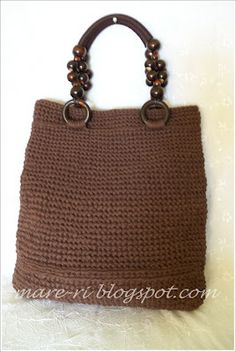 sheet yarn - crochet bag.....