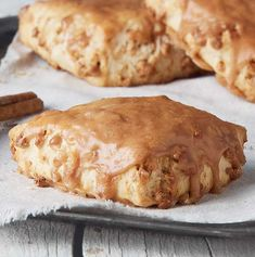 Freshly baked, soft and tender cream-based scone flavored with cinnamon chips and finished with a cinnamon crunch and white icing glaze. Cinnamon Chip Scones, Cinnamon Crunch, Cinnamon Chips, Panera Scones Recipe, Breakfast Recipes, Dessert Recipes, Desserts, Scone Recipes, Dessert