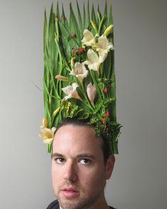 urban dude gardening | artist: joshua werber Gardening, Crown, Landscape, Artist, Flowers, Jewelry, Garden, Urban, Corona