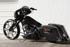 1 stretched extended saddlebags bags rear fender streetglide custom fluch mount tag bracket solo seat stretched tank