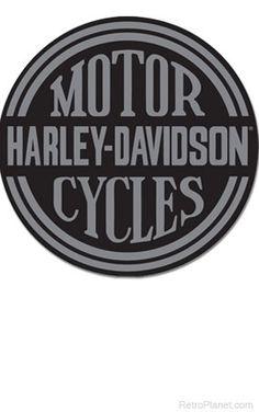 Harley-Davidson Platinum Disc Tin Sign  http://www.retroplanet.com/PROD/38882