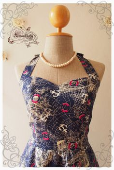 World map dress navy world map vintage inspired dress by Amordress