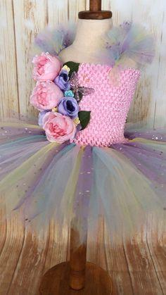 Fairy Tutu, Girls Fairy Dress, Fairy Costume, Fairy Birthday Girls Tutu Dresses, Tutus For Girls, Flower Girl Dresses, 1st Birthday Tutu, Fairy Birthday, Pink Tutu, Tulle Tutu, Tutu Costumes, Halloween Costumes