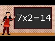 Math for second and third grade. Multiplying by Multiplication flash cards. Learning Tools, Kids Learning, First Grade Addition, Math Multiplication, Primary Maths, Addition And Subtraction, Educational Videos, Sight Words, Third Grade