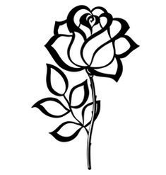 Black and White Flower Drawing Simple Single Flower. Black and White Flower Drawing Simple Single Flower. Newest Free Of Charge Single Rose Drawing Ideas with This Simple Rose, Simple Flowers, Colorful Flowers, White Flowers, Realistic Rose Drawing, Simple Flower Drawing, Roses Drawing Tutorial, Drawing Tutorials, Drawing Ideas