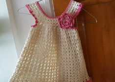 Vestidito en Crochet(ganchillo) Para Niña Tipo Batita