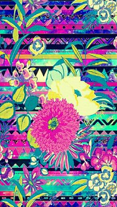 Tribal floral galaxy wallpaper I created for the app CocoPPa.