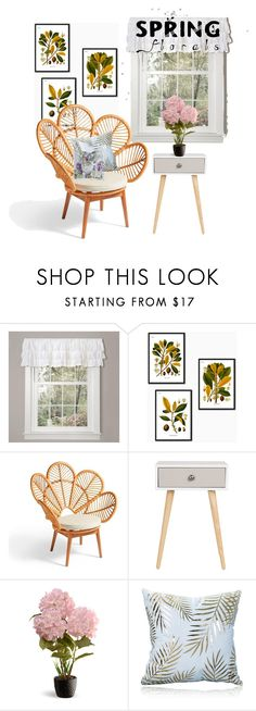 """""""Spring from my Window Pane"""" by rainisapratami ❤ liked on Polyvore featuring interior, interiors, interior design, home, home decor, interior decorating, Lush Décor, Grandin Road, National Tree Company and Designers Guild"""