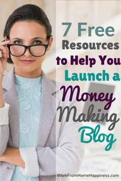 Want to launch a blog, but don't know where to start? Here's 7 FREE resources to help you get a money-making blog up and running in no time!