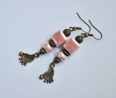 Baby Feet Earrings.Foot Earrings.Foot Jewelry.Ceramic