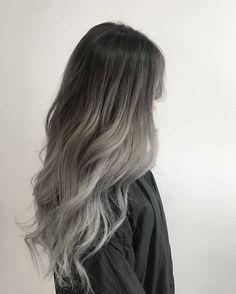 Grey Ombre Hair hair, 10 Hair Trends We Are Happy to Leave Behind This Year Ash Hair, Ash Grey Hair, Grey Blonde, Black Hair Dyed Brown, Grey Hair Dye, Ash Brown, Ombre Hair Color, Gray Ombre, Silver Ombre Hair