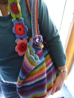 Crochet Bag and me   Me and my bag, just off out the door...…   Flickr