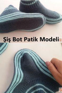 Filet Crochet Charts, Crochet Stitches, Knit Crochet, Crochet Baby Dress Pattern, Baby Knitting Patterns, Booties Crochet, Crochet Slippers, Kreative Jobs, Slipper Socks