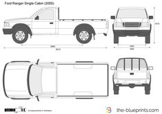 Ford Ranger Single Cabin vector drawing Ford Ranger, Midland College, Airplane Drawing, Car Vector, Car Drawings, All Cars, 4x4, Cabin, Coloring Book