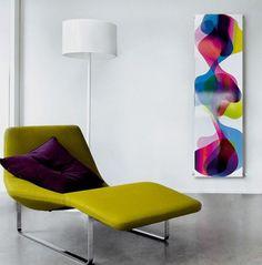 Parecen un cuadro con una colorida composición, son los radiadores Therme de la firma Caleido, diseñados por Karim Rashid. Placas de acero de formato rectangular.