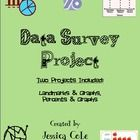 Conduct a survey! Whats the question? Great math project for the last quarter.  Students use graphing skills, fractions, landmarks data, and decim...