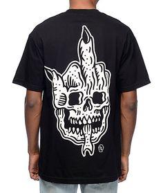 Sketchy Tank Turn It Up Black T-Shirt