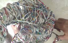 DIY manualidades con carton   manualidades con papel de periodico